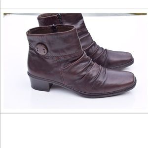 Rieker leather ankle boots
